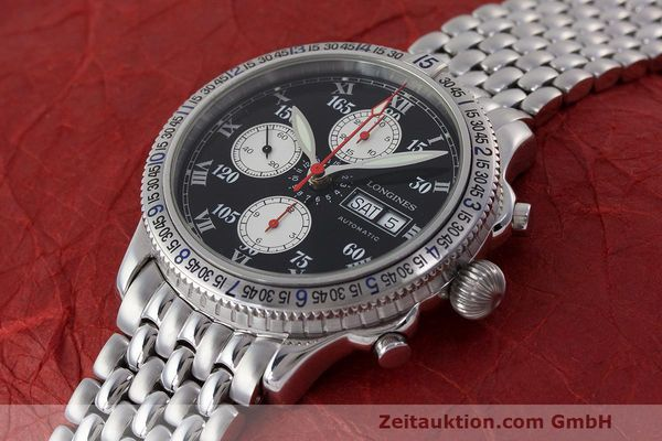 Used luxury watch Longines Lindbergh Stundenwinkel chronograph steel automatic Kal. L674.8 Ref. L2.618.4  | 162399 01