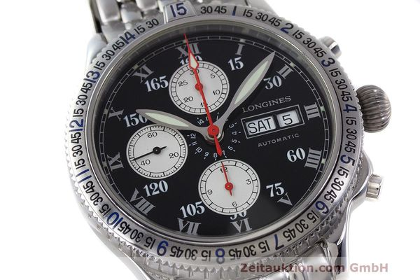 Used luxury watch Longines Lindbergh Stundenwinkel chronograph steel automatic Kal. L674.8 Ref. L2.618.4  | 162399 02