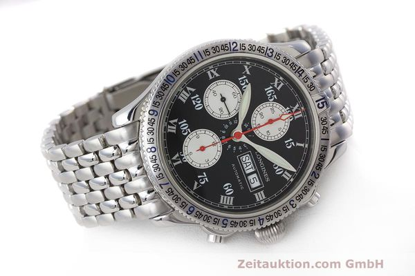 Used luxury watch Longines Lindbergh Stundenwinkel chronograph steel automatic Kal. L674.8 Ref. L2.618.4  | 162399 03