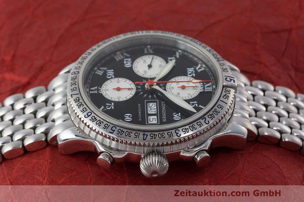 Used luxury watch Longines Lindbergh Stundenwinkel chronograph steel automatic Kal. L674.8 Ref. L2.618.4  | 162399 05