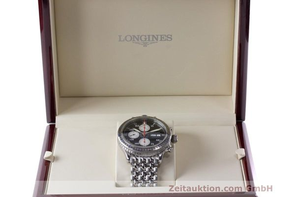 Used luxury watch Longines Lindbergh Stundenwinkel chronograph steel automatic Kal. L674.8 Ref. L2.618.4  | 162399 07