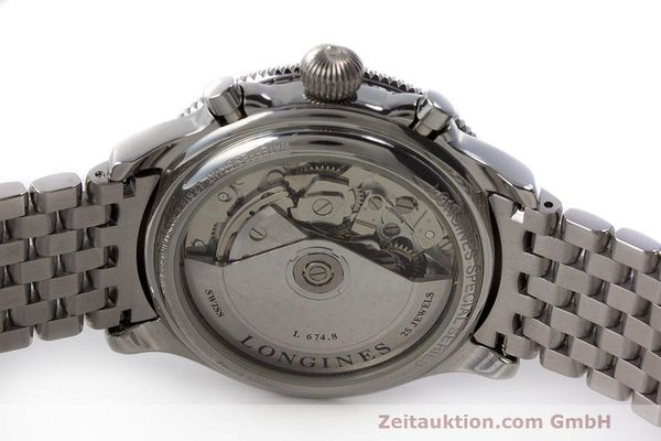 Used luxury watch Longines Lindbergh Stundenwinkel chronograph steel automatic Kal. L674.8 Ref. L2.618.4  | 162399 09