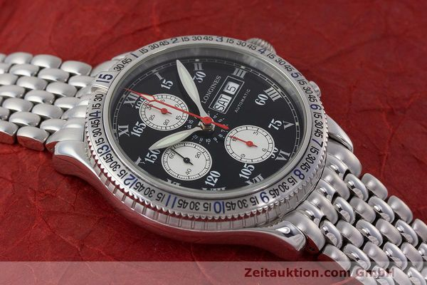 Used luxury watch Longines Lindbergh Stundenwinkel chronograph steel automatic Kal. L674.8 Ref. L2.618.4  | 162399 15