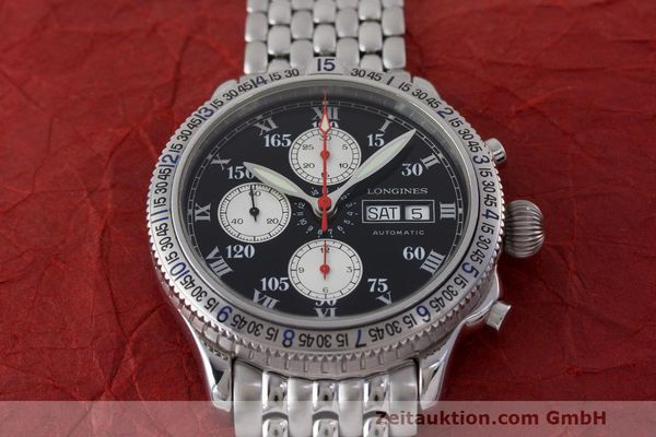Used luxury watch Longines Lindbergh Stundenwinkel chronograph steel automatic Kal. L674.8 Ref. L2.618.4  | 162399 16