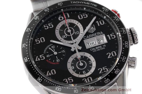 Used luxury watch Tag Heuer Carrera chronograph steel automatic Kal. 16 ETA 7750 Ref. CV2A10  | 162404 02