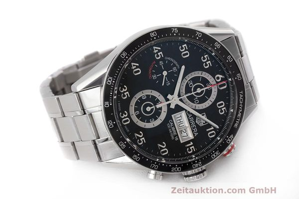 Used luxury watch Tag Heuer Carrera chronograph steel automatic Kal. 16 ETA 7750 Ref. CV2A10  | 162404 03