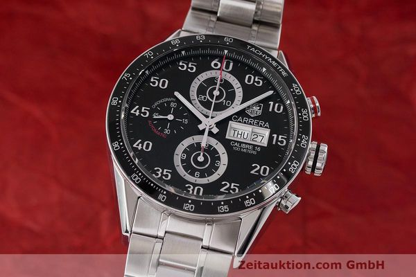 Used luxury watch Tag Heuer Carrera chronograph steel automatic Kal. 16 ETA 7750 Ref. CV2A10  | 162404 04