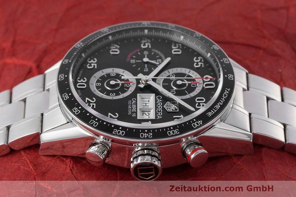 Used luxury watch Tag Heuer Carrera chronograph steel automatic Kal. 16 ETA 7750 Ref. CV2A10  | 162404 05