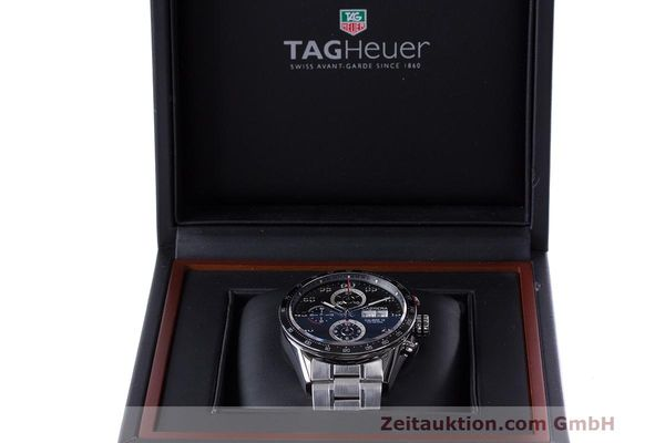 Used luxury watch Tag Heuer Carrera chronograph steel automatic Kal. 16 ETA 7750 Ref. CV2A10  | 162404 07