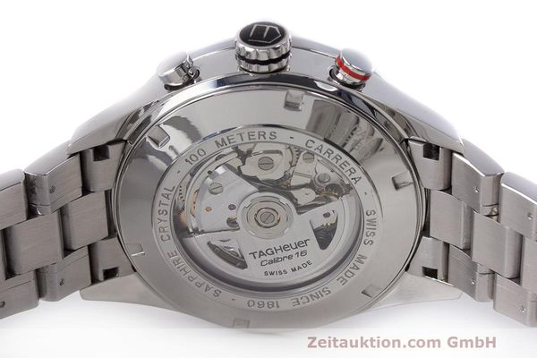 Used luxury watch Tag Heuer Carrera chronograph steel automatic Kal. 16 ETA 7750 Ref. CV2A10  | 162404 09