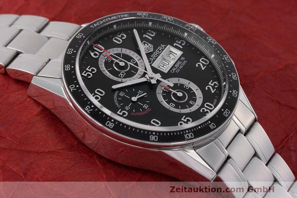 Used luxury watch Tag Heuer Carrera chronograph steel automatic Kal. 16 ETA 7750 Ref. CV2A10  | 162404 16