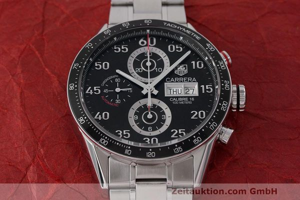 Used luxury watch Tag Heuer Carrera chronograph steel automatic Kal. 16 ETA 7750 Ref. CV2A10  | 162404 17