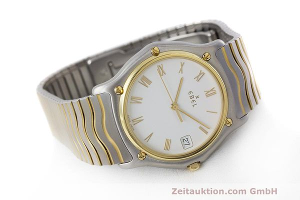 Used luxury watch Ebel Classic Wave steel / gold quartz Kal. 187-1 Ref. 1187141  | 162408 03