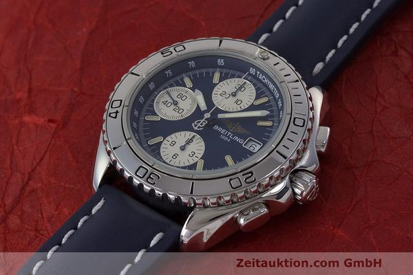 Used luxury watch Breitling Shark chronograph steel automatic Kal. B13 ETA 7750 Ref. A13051  | 162416 01
