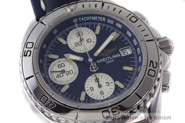 Used luxury watch Breitling Shark chronograph steel automatic Kal. B13 ETA 7750 Ref. A13051  | 162416 02
