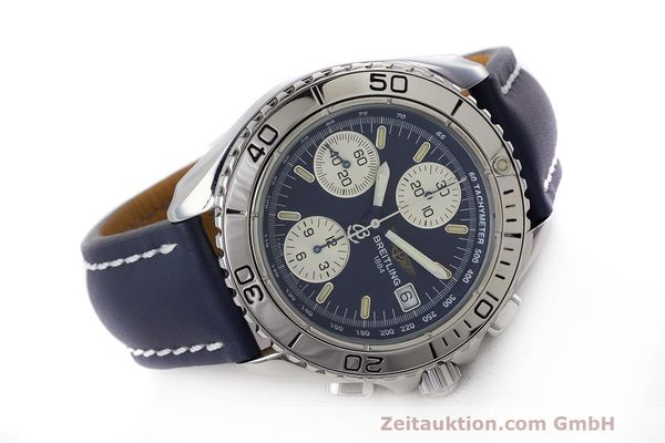 Used luxury watch Breitling Shark chronograph steel automatic Kal. B13 ETA 7750 Ref. A13051  | 162416 03