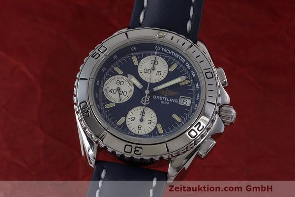 Used luxury watch Breitling Shark chronograph steel automatic Kal. B13 ETA 7750 Ref. A13051  | 162416 04