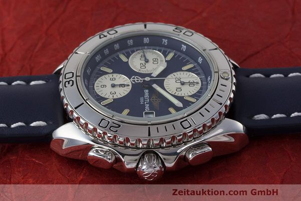 Used luxury watch Breitling Shark chronograph steel automatic Kal. B13 ETA 7750 Ref. A13051  | 162416 05