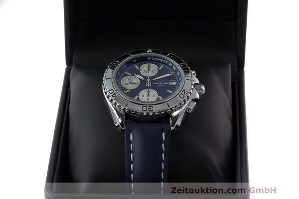 Used luxury watch Breitling Shark chronograph steel automatic Kal. B13 ETA 7750 Ref. A13051  | 162416 07