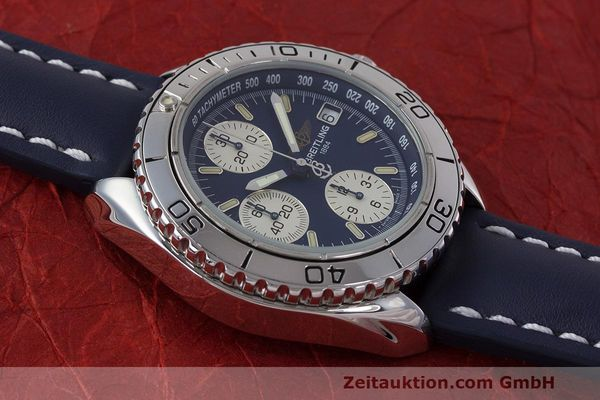 Used luxury watch Breitling Shark chronograph steel automatic Kal. B13 ETA 7750 Ref. A13051  | 162416 15