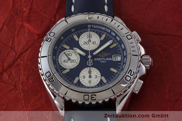 Used luxury watch Breitling Shark chronograph steel automatic Kal. B13 ETA 7750 Ref. A13051  | 162416 16