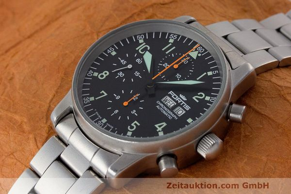 Used luxury watch Fortis Flieger Chronograph chronograph steel automatic Kal. ETA 7750 Ref. 597.10.141  | 162417 01