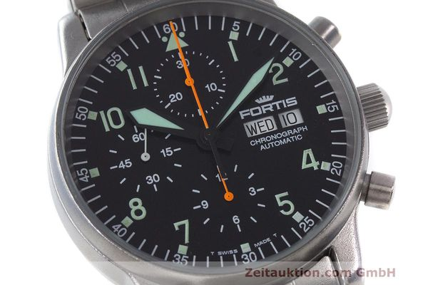 Used luxury watch Fortis Flieger Chronograph chronograph steel automatic Kal. ETA 7750 Ref. 597.10.141  | 162417 02