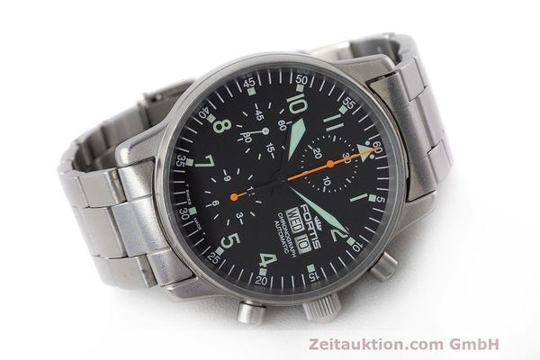 Used luxury watch Fortis Flieger Chronograph chronograph steel automatic Kal. ETA 7750 Ref. 597.10.141  | 162417 03