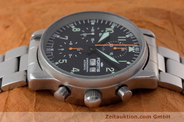 Used luxury watch Fortis Flieger Chronograph chronograph steel automatic Kal. ETA 7750 Ref. 597.10.141  | 162417 05
