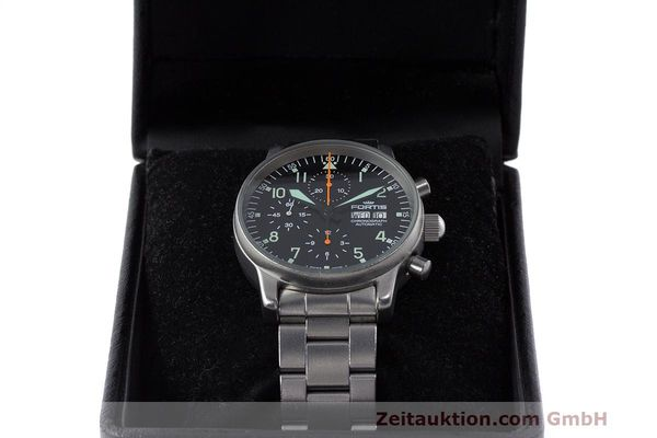 Used luxury watch Fortis Flieger Chronograph chronograph steel automatic Kal. ETA 7750 Ref. 597.10.141  | 162417 07