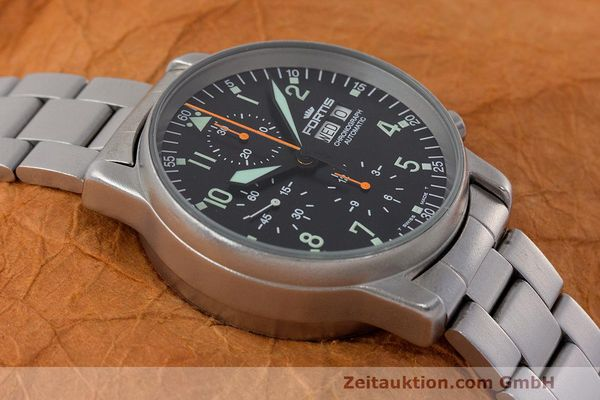 Used luxury watch Fortis Flieger Chronograph chronograph steel automatic Kal. ETA 7750 Ref. 597.10.141  | 162417 15