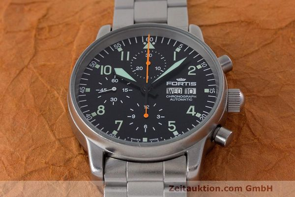 Used luxury watch Fortis Flieger Chronograph chronograph steel automatic Kal. ETA 7750 Ref. 597.10.141  | 162417 16