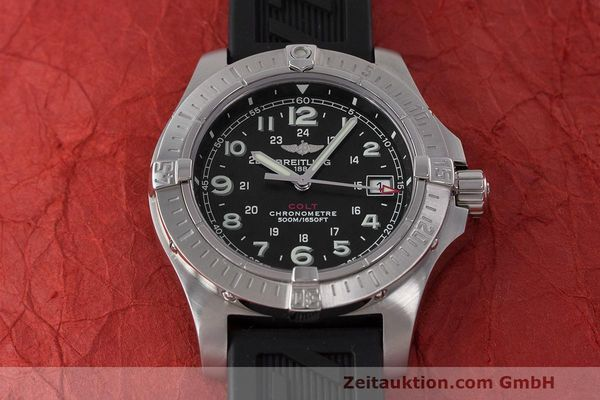 Used luxury watch Breitling Colt steel quartz Kal. B74 ETA 955.652 Ref. A74380  | 162426 18