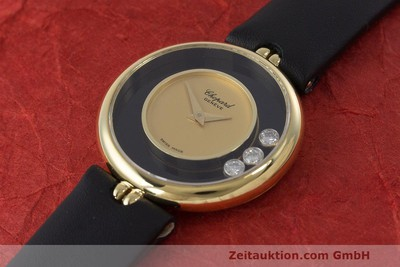 CHOPARD LADY 18K GOLD HAPPY DIAMONDS DAMENUHR DIAMANTEN REF 4076 VP: 10940,- Euro [162455]