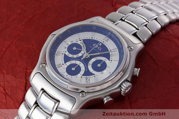 Used luxury watch Ebel Le Modulor chronograph steel automatic Kal. 137 Ref. E9137241  | 162459 01