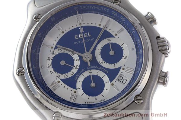 Used luxury watch Ebel Le Modulor chronograph steel automatic Kal. 137 Ref. E9137241  | 162459 02