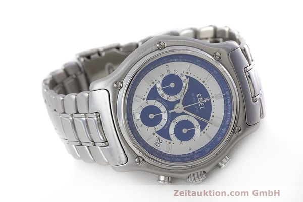 Used luxury watch Ebel Le Modulor chronograph steel automatic Kal. 137 Ref. E9137241  | 162459 03