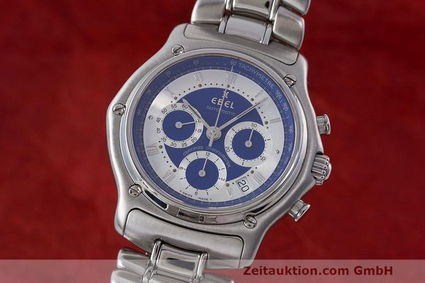 Used luxury watch Ebel Le Modulor chronograph steel automatic Kal. 137 Ref. E9137241  | 162459 04