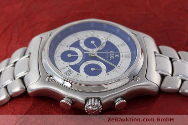 Used luxury watch Ebel Le Modulor chronograph steel automatic Kal. 137 Ref. E9137241  | 162459 05