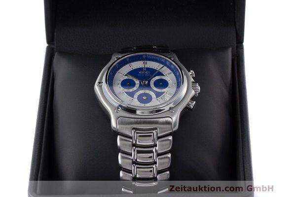 Used luxury watch Ebel Le Modulor chronograph steel automatic Kal. 137 Ref. E9137241  | 162459 07