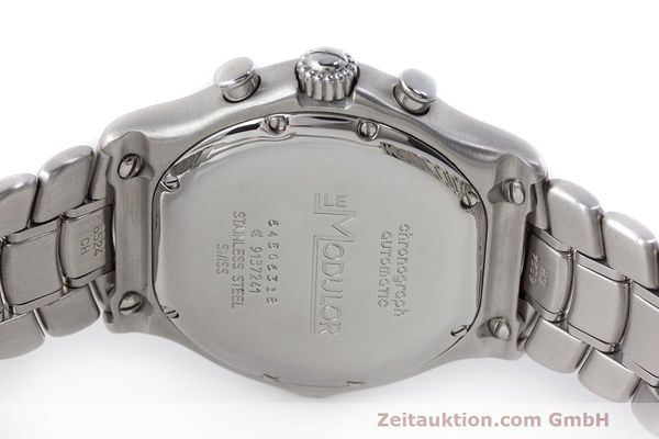 Used luxury watch Ebel Le Modulor chronograph steel automatic Kal. 137 Ref. E9137241  | 162459 08