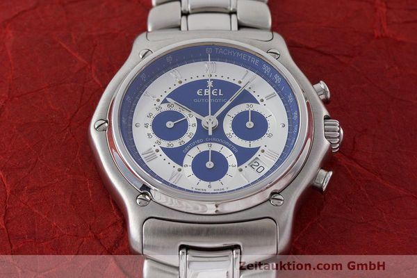 Used luxury watch Ebel Le Modulor chronograph steel automatic Kal. 137 Ref. E9137241  | 162459 14