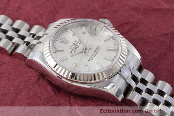 Used luxury watch Rolex Lady Datejust steel / white gold automatic Kal. 2235 Ref. 179174  | 162468 17