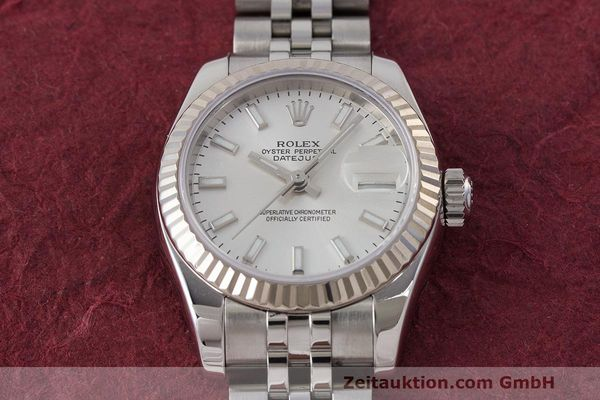 Used luxury watch Rolex Lady Datejust steel / white gold automatic Kal. 2235 Ref. 179174  | 162468 18
