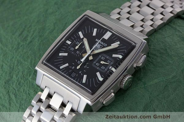 Used luxury watch Tag Heuer Monaco chronograph steel automatic Kal. 17 ETA 2894-2 Ref. CW2111-0  | 162516 01
