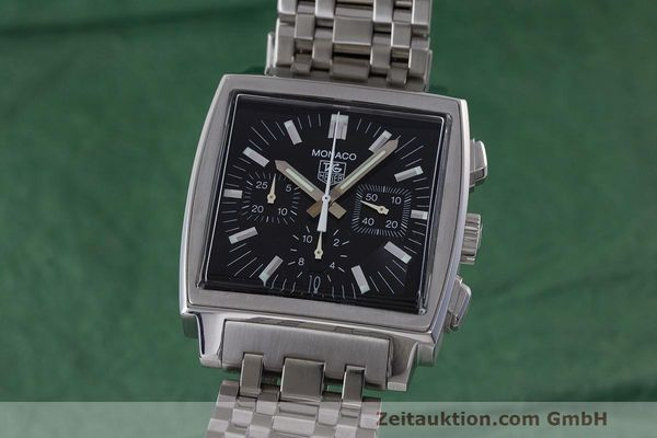 Used luxury watch Tag Heuer Monaco chronograph steel automatic Kal. 17 ETA 2894-2 Ref. CW2111-0  | 162516 04