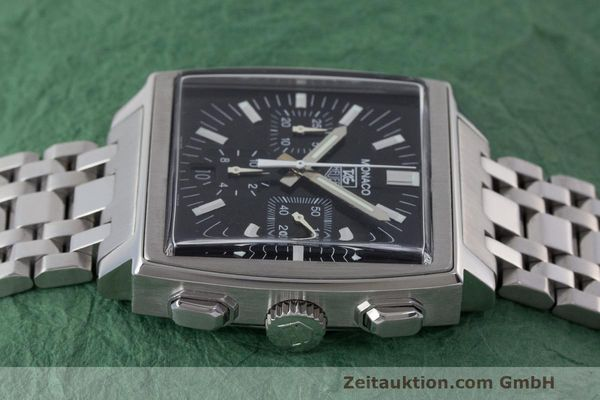 Used luxury watch Tag Heuer Monaco chronograph steel automatic Kal. 17 ETA 2894-2 Ref. CW2111-0  | 162516 05