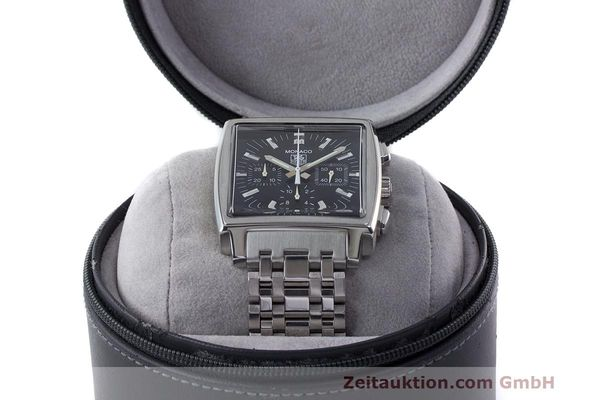 Used luxury watch Tag Heuer Monaco chronograph steel automatic Kal. 17 ETA 2894-2 Ref. CW2111-0  | 162516 07