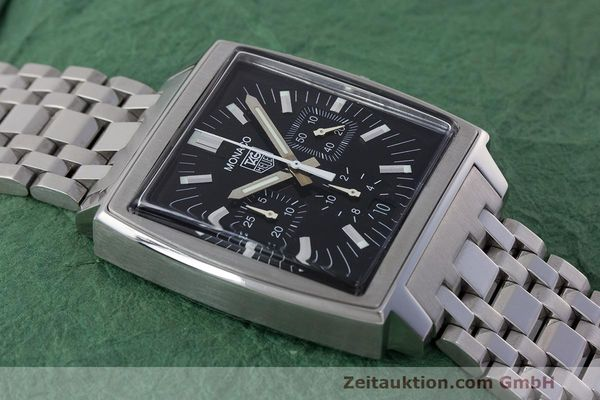Used luxury watch Tag Heuer Monaco chronograph steel automatic Kal. 17 ETA 2894-2 Ref. CW2111-0  | 162516 14