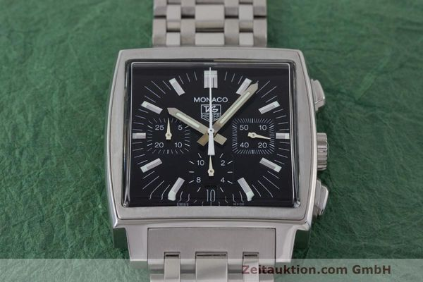 Used luxury watch Tag Heuer Monaco chronograph steel automatic Kal. 17 ETA 2894-2 Ref. CW2111-0  | 162516 15